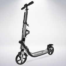 EXOOTER M2050GR Manual Adult Kick Scooter With Shocks And Big Wheels In Gray.