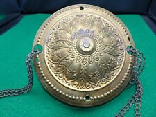 New listing Vintage Brass Ceiling Cover - Ladder Chains And Medallions