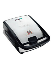 Tefal 2-in-1 Sandwich & Waffle Maker With Interchangable Plates Silver/Black SW8