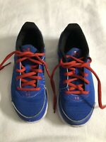 Boys Under Armour Sneaker Athletic Shoes Size 2Y Blue W/ Red Trim