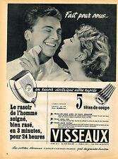 PUBLICITE ADVERTISING 114  1954  VISSEAUX 2  rasoirs éléctrique
