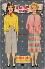 Vintage Uncut 1950's Teen Time Ann & Peggy Paper Dolls~#1 Reproduction~Pretty!