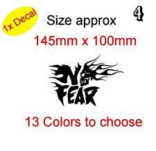 SKULL IN NO FEAR! Graphic Vinyl Decal Sticker Car, Laptop Bike etc (REF 4)