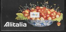 ALITALIA TICKET JACKET/FOLDER/WALLET BOWL WITH CHERRIES GIOVANNA GARZONI COVER