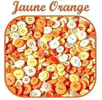 LOT 45 BOUTON JAUNE ORANGE SCRAPBOOKING COUTURE LAYETTE