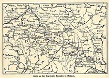 1915 * Karte zu den siegreichen Kämpfen in Galizien *  WW1