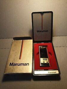 Vintage Maruman DL- 47 Lighter with Quartz Clock, Instructions + Box. Working.