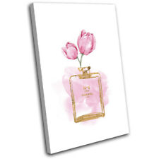 Vintage Flower Perfume Make-Up Fashion SINGLE CANVAS WALL ART Picture Print