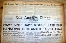 1945 WW II hdlne newspaper ALLIES CAPTURE STOLEN ART TREASURES & GOLD from Nazis