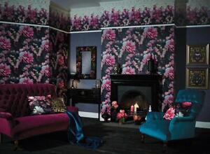 Arthouse Velvet Filled Cushion Soft Blush Cherry Blossom 45cm Momoka Wallpaper