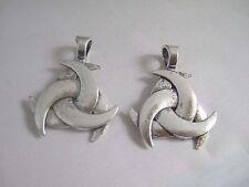 4 x Tibetan Silver Triquetra Trinity Metal Celtic Knot Pagan Beads Charm Pendant