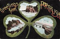 Rare Vintage Postcard Greeting From Portrush, Antrim, N.Ireland (Oct 1909).