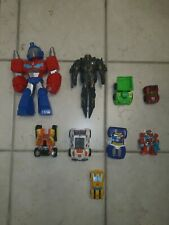 Transformers Toy Lot Kid Friendly Easy To Transform Optimus Prime Bumblebee