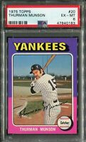 1975 Topps #20 Thurman Munson PSA 6 EX-MT