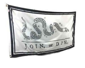3x5' Join or Die Snake Flag - Durable All-Weather Nylon Flag - Made in the USA