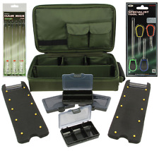 CARP FISHING COMPLETE MULTI RIG WALLET SYSTEM + 6 x HAIR RIGS + BAITING NEEDLES