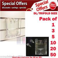 DL/TRIFOLD Slatwall Leaflet Postcard Brochure Holders Menu Dispenser Displays