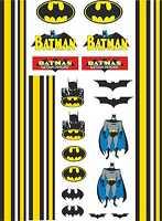 1-10 Scale Model Car Decals Batman Style Designs Exterior Vinyl Stickers