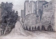 Città muro Visby Gotland 1905 secessione tempo carbone Richard Pietzsch 1872-1960