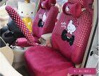 1 Sets Hello Kitty Cartoon Universal Car Seat Cover Cushion Accessory Plush Tla1