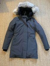 Canada Goose Victoria Parka Down Jacket Grey Size Xs