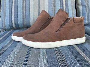 KENNETH COLE REACTION SIZE 7.5 MEDIUM BROWN PULL ON ANKLE BOOTS RUBBER BOTTOM