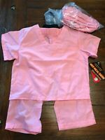 NEW Aeromax Child, Doctor Nurse Medical Outfit Costume Pink Scrubs Size 2-3 (C)