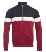 Teddy Smith Griko Full Zip Jacket Navy/Red/White Mens Size UK M *REF139