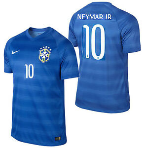 NIKE NEYMAR JR BRAZIL AUTHENTIC PLAYERS AWAY JERSEY FIFA WORLD CUP BRASIL 2014