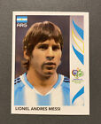 2006 Panini Germany World Cup #185 Lionel Messi Argentina Rookie RC Card Sticker. rookie card picture
