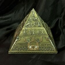 Bronze Coated 4 Layer Trinket/ Jewellery Box Egyptian Pyramid 11cm H X 13cm (d)