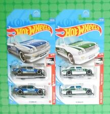2020 Hot Wheels Rescue #207 - '92 BMW M3 - Polizei - Lot of 4 - w/ Zamac Version