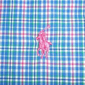 Large Polo Ralph Lauren Classic Fit Long Sleeve Button-Front Shirt 100% Cotton