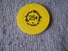 ARIZONA CHARLIE'S  CASINO CHIPS YELLOW BJ 25 CENT CHIP LAS VEGAS NEVADA CHARLIES