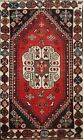 Vintage Geometric Tribal Abadeh Hand-knotted Area Rug Wool Oriental Carpet 3'x4'