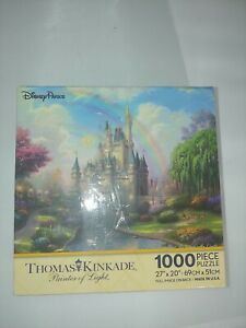SEALED A New Day at the Cinderella Castle KINCADE Disney 1000 Piece Puzzle NEW