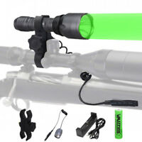 Tactical Green Hunting Spotlight LED 10000LM Flashlight Torch Camping Lamp Mount