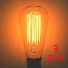 40 Watt 3-Pack Edison S21 MARCONI Filament Antique Nostalgia Light Bulb 40w