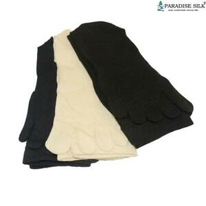 Lot Knit Silk Five Toe Socks Pack of 3 Pairs