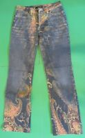Roberto Cavalli Paisley Design Jeans Size Small