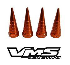 VMS BILLET ALUMINUM ORANGE H22 H22A VTEC VALVE COVER SPIRAL SPIKE NUTS 8 PCS