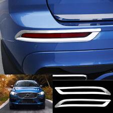 For Volvo XC60 2018-2020 ABS Chrome rear bumper Fog Light Lamp Cover trim 2pcs