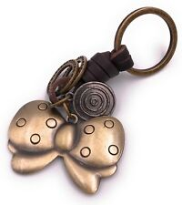 FIOCCO MOSCHE ciondolo chiave in metallo bronzo