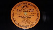 EDDY ARNOLD Tie Me To Your Apron Strings Again PROMO 78 with Special Talk RCA