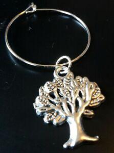 TREE OF LIFE WINE GLASS CHARMS x4