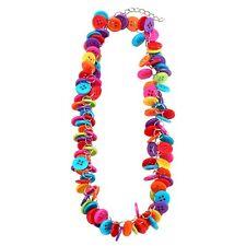 Funky Colorido Multicolor Botones De Cluster Collar - Joe Cool Azul Rosa Nuevo