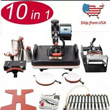 10 In 1 Combo Sublimation Heat Press Machine For T Shirts/Hat/Mugs/Slate...