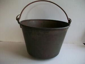 Vintage farmhouse Hiram Hayden pat'd 1851 brass pot, bucket, pail