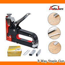 Professional Stapler Tacker + 900 Staples Upholstery Nail Woodworking Power Tool