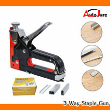 TACKER Staple Gun KIT Stapler Stapling Machine w/ 900pcs Staples Craft Hobby DIY